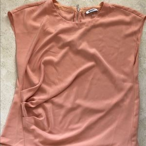DKNY light pink colored blouse size Large.